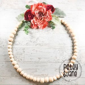 Other - { P E T E Y & J A N E } Handcrafted Beaded Wreath
